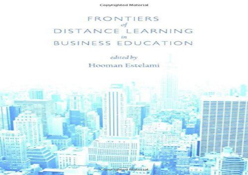 Read Frontiers of Distance Learning in Business Education Full Ebook
