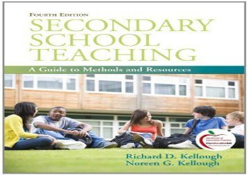 [PDF] Secondary School Teaching: A Guide to Methods and Resources Full Ebook