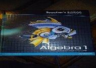 [PDF] Pearson Algebra 1: Common Core, Vol. 2, Teacher s Edition Full Ebook