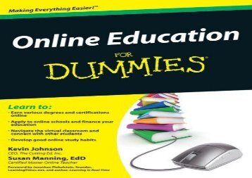 Free Download Online Education for Dummies kindle ready