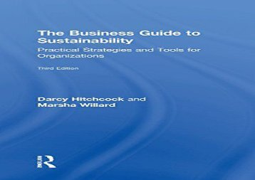 Read The Business Guide to Sustainability: Practical Strategies and Tools for Organizations | Online