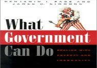 Read What Government Can Do: Dealing with Poverty and Inequality (American Politics   Political Economy S.) | pDf books