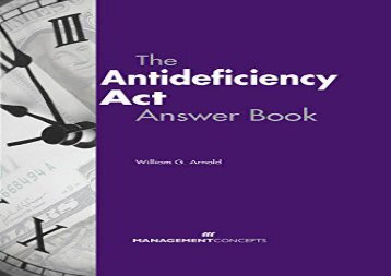Read The Antideficiency Act Answer Book | PDF File