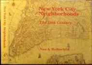 PDF New York City Neighbourhoods: The Eighteenth Century   pDf books