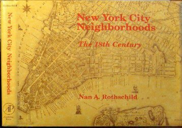 PDF New York City Neighbourhoods: The Eighteenth Century | pDf books