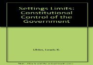 Download Settings Limits: Constitutional Control of the Government | Download file