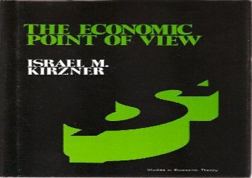 PDF The Economic Point of View: An Essay in the History of Economic Thought | Download file