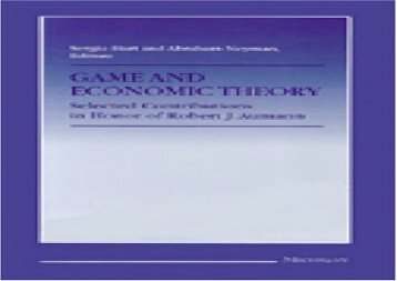 Read Game and Economic Theory: Selected Contributions in Honor of Robert J.Aumann | Online