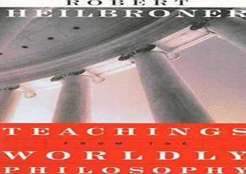 PDF Teachings from the Worldly Philosophy | pDf books