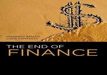 Download The End of Finance | Ebook