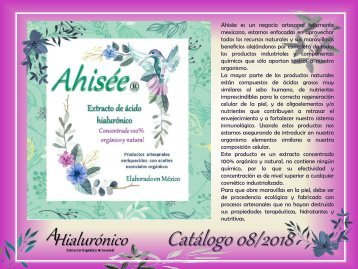 Catalogo Ahisee Jul 2018
