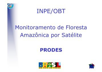 Imagem de Satélite (1:250 000) + Interpretação Visual - OBT - Inpe