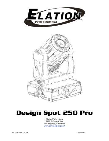 Design Spot 575E Channel Traits â 24 DMX Channels