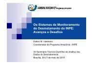 Os Sistemas de Monitoramento do Desmatamento do ... - OBT - Inpe
