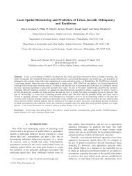 Local Spatial Biclustering and Prediction of Urban Juvenile - Temple ...
