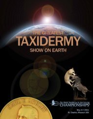 World Taxidermy & Fish Carving Championships® Show Rules