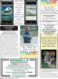 December 2011 2-25.pmd - Fish and Game Finder Magazine
