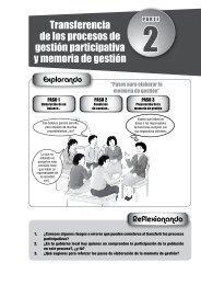 Transferencia de los procesos de gestión participativa y memoria de ...