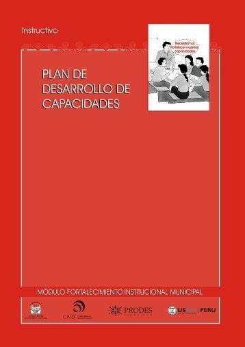 plan de desarrollo de capacidades plan de desarrollo de capacidades