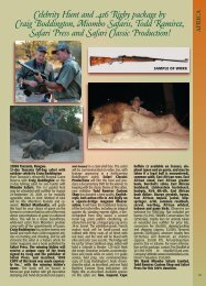 Celebrity Hunt and .416 Rigby package by Craig Boddington ...