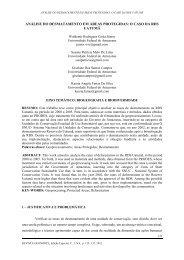 análise do desmatamento em áreas protegidas - Revista GeoNorte