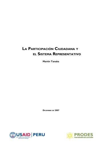 LA PARTICIPACIóN CIUDADANA Y EL SISTEMA REPRESENTATIVO