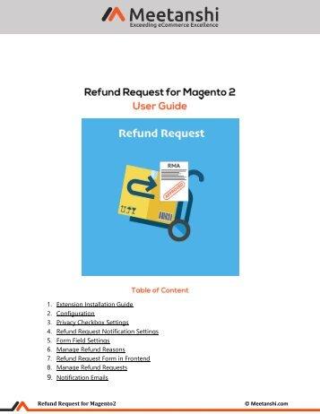 Magento 2 Refund Request