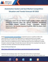 Automotive Gasket and Seal Market Competitive Situation and Trends Forecast till 2022