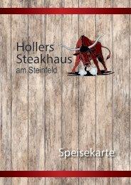 Speisekarte Hollers Steakhaus 2700 Wiener Neustadt