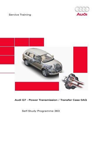 SSP363 Audi Q7 - Power Transmission / Transfer Case ... - Volkspage