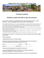 Cullinan Day ride 25th August