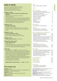 CONTENTS DIARY OF EVENTS - The Urban Design Group