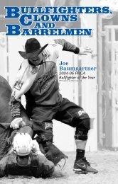 11. Bullfighters, Clowns 371-390 - Professional Rodeo Cowboys ...