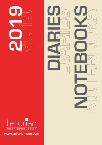 Tellurian | 2019 corporate diaries & customized notebooks collections