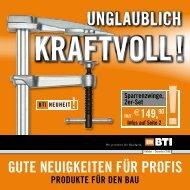 unglaublich - BTI Befestigungstechnik GmbH & Co. KG