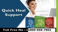 Quick Heal Activation 1800-658-7602 Product Key