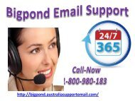 Check Now 1-800-980-183 Bigpond Email Support