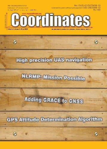 May 2009 | 1 - Coordinates