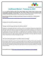Antifreeze Market Top Trends And Statistics