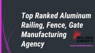 Top Ranked Aluminum Railing, Fence, Gate Manufacturing Agency
