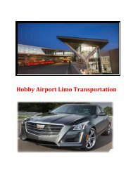 Hobby Airport Limo Transportation