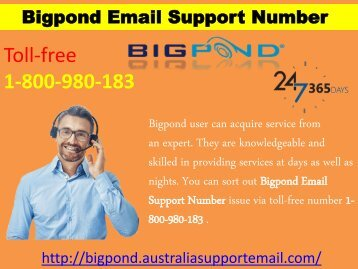 To Tackle Issue | Use Support Number 1-800-980-183|Bigpond Email
