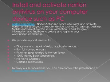 www.norton.com/setup - activate nortonaccount with norton.com/setup