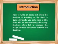 How To Write An Essay Fast: Here Are the Guidelines
