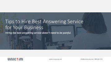 Tips to Hire Best Answering Service for Your Business