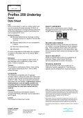 Proflex 250 Underlay Sand Data Sheet - Icopal - Page 2