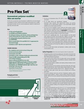 Pro Flex Set™ - Adhésifs Proma inc.