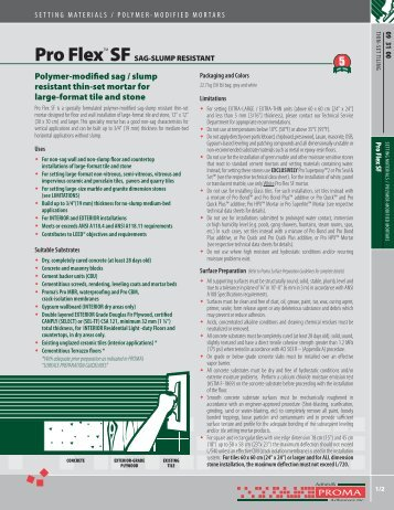 Technical Data Sheet - Adhésifs Proma inc.