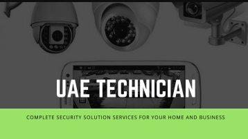 CCTV Repair Services in Dubai, Call Now @0523252808