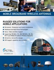 MOBILE BROADBAND WIRELESS ANTENNAS